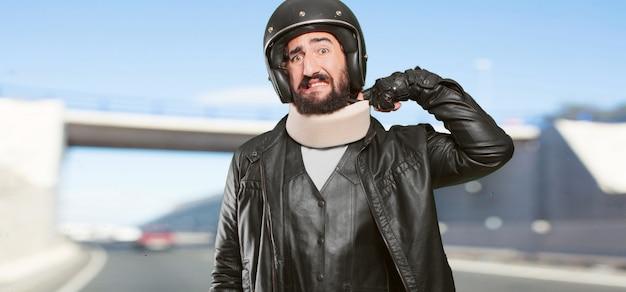 Motorrijder die het slachtoffer is