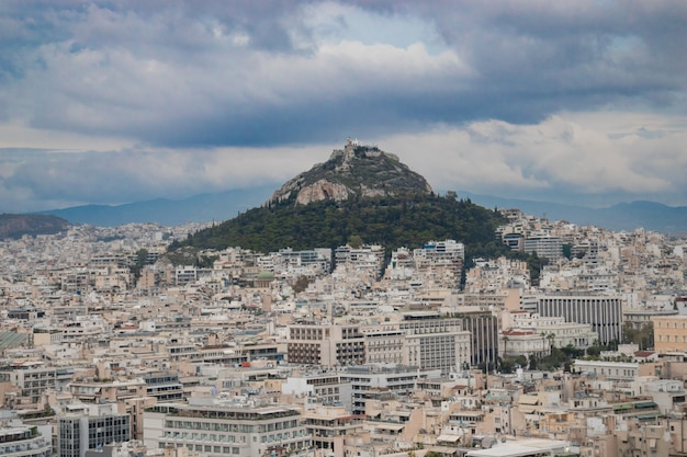 Mount lycabettus in athene, griekenland