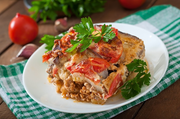 Moussaka, traditioneel grieks gerecht