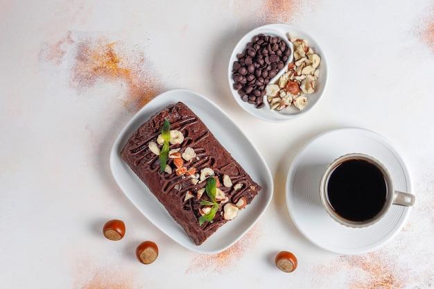 Mozaïek chocolade en koektaart