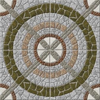 Mozaïek gemaakt van natuurlijk graniet. decoratieve stenen tegels. , vloer en muren. steen achtergrond textuur