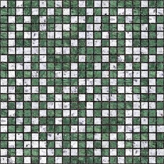 Mozaïek in wit en groen marmer. keramische tegel. naadloze textuur