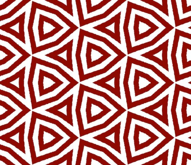 Mozaïek naadloos patroon. kastanjebruine symmetrische caleidoscoopachtergrond. retro mozaïek naadloos ontwerp. textiel klaar creatieve print, badmode stof, behang, inwikkeling.