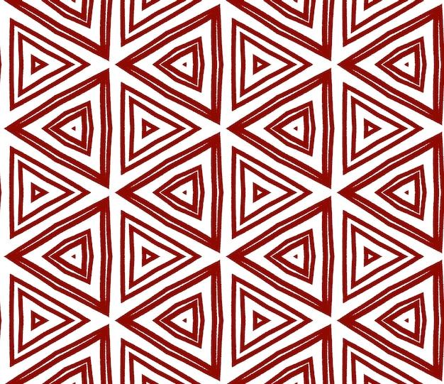 Mozaïek naadloos patroon. kastanjebruine symmetrische caleidoscoopachtergrond. textiel klaar gedenkwaardige print, badmode stof, behang, verpakking. retro mozaïek naadloos ontwerp.