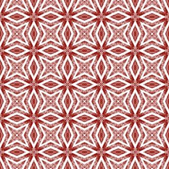 Mozaïek naadloos patroon. wijn rode symmetrische caleidoscoop achtergrond. textiel klaar waardige print, badmode stof, behang, inwikkeling. retro mozaïek naadloos ontwerp.