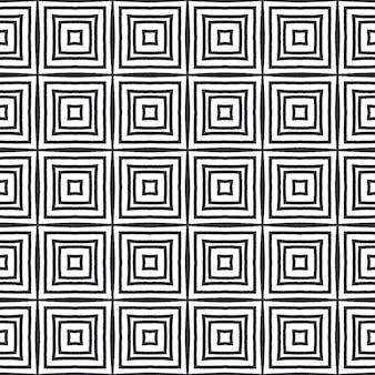 Mozaïek naadloos patroon. zwarte symmetrische caleidoscoopachtergrond. retro mozaïek naadloos ontwerp. textiel klaar frisse print, badmode stof, behang, inwikkeling.