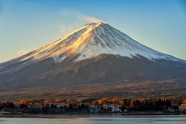 Mt fuji de vroege ochtend