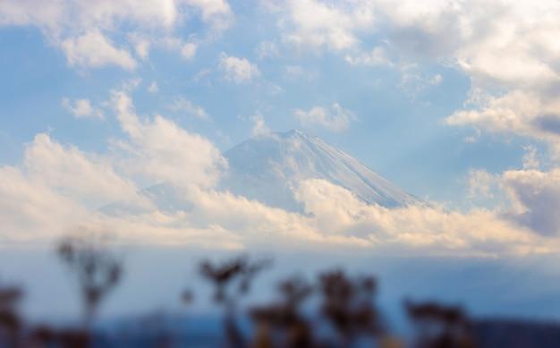 Mt. fuji en meer kawaguchi in yamanashi, japan