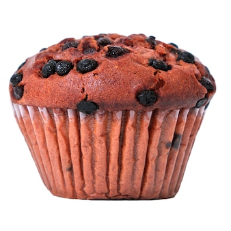 Muffin chocolate chip geïsoleerd