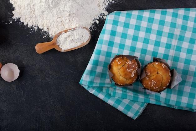 Muffin en kookgerei