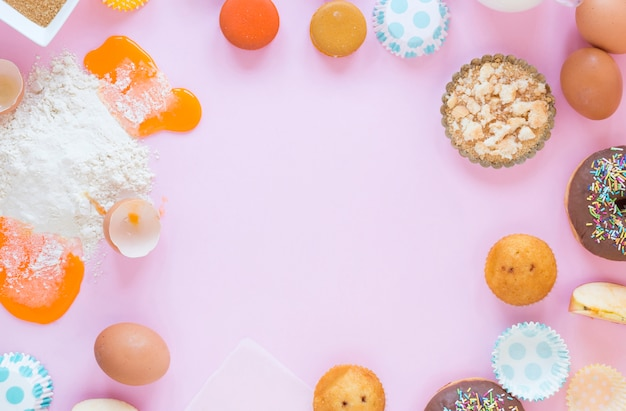 Muffins en eieren