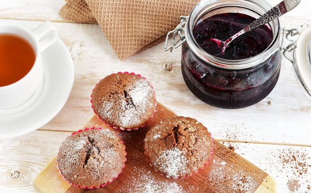 Muffins met cacao