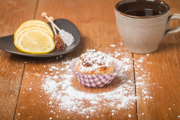 Muffins met havermout en walnoten