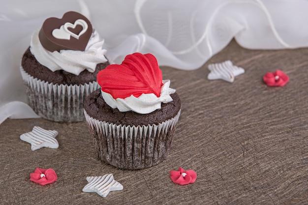 Muffins voor valentijnsdag
