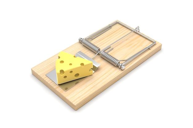 Muizeval met kaas, op wit wordt geïsoleerd dat