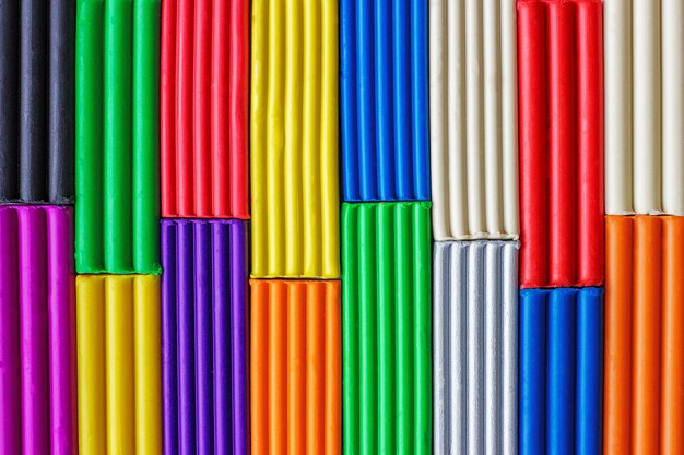 Multi-coloured plasticineachtergrond
