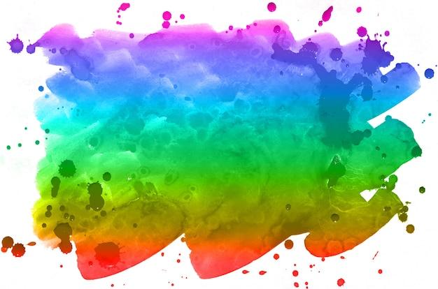 Multi-gekleurde inktvlekken