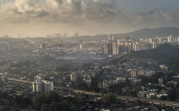 Mumbai stad zonsondergang