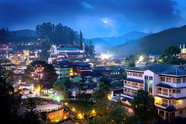 Munnar stad in india