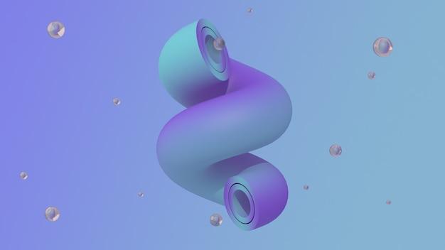 Muntblauwe en paarse buigbuis en glazen bollen