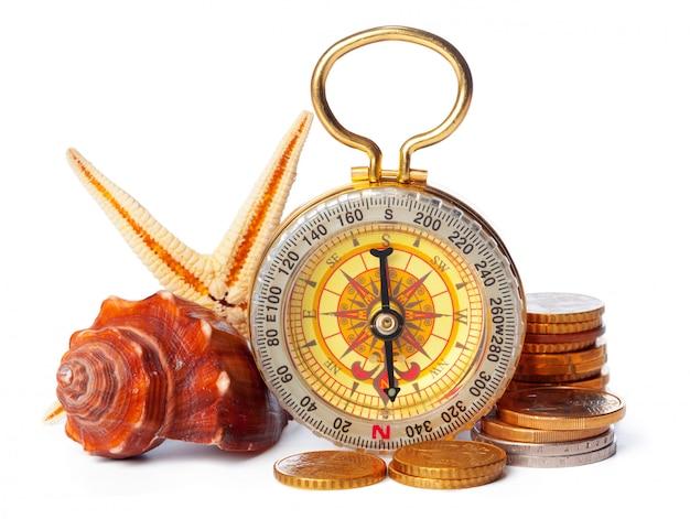 Munten stapelen met kompas