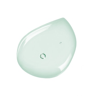 Muntkleurig vloeibaar gel of serummonster dat op wit wordt geïsoleerd