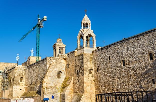 Muren van de geboortekerk in bethlehem, palestina