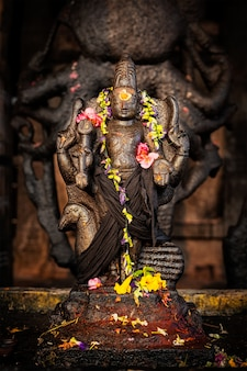 Murugan-afbeelding. brihadishwara temple, tanjore