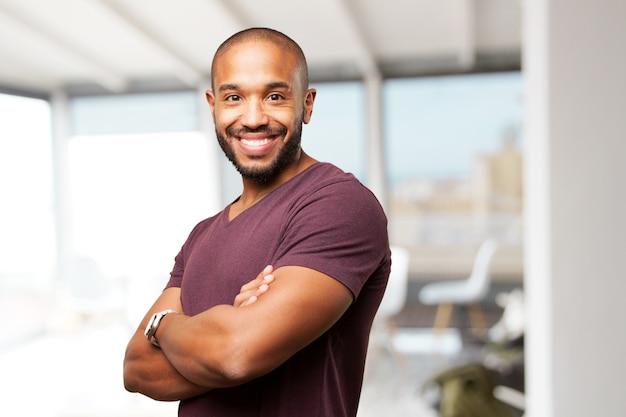 Muscle man glimlachend