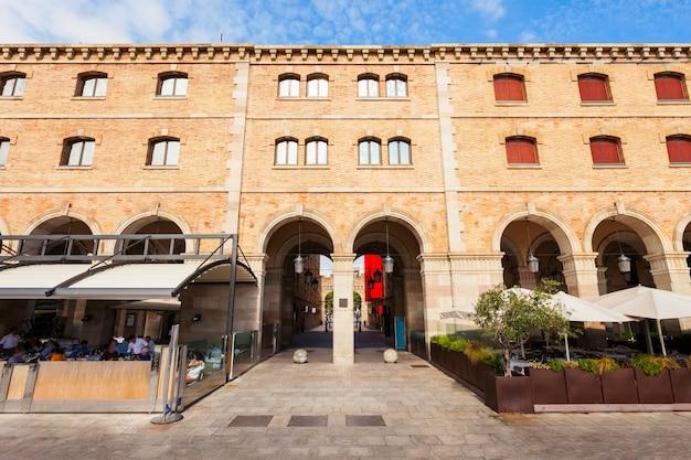 Museum van de geschiedenis van catalonië (mhc) of museu de historia de catalunya in het centrum van de stad barcelona, regio catalonië in spanje