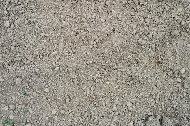 Muur van losgemaakte gedroogde aarde grond gemalen textuur met niets op, klaar voor opplant