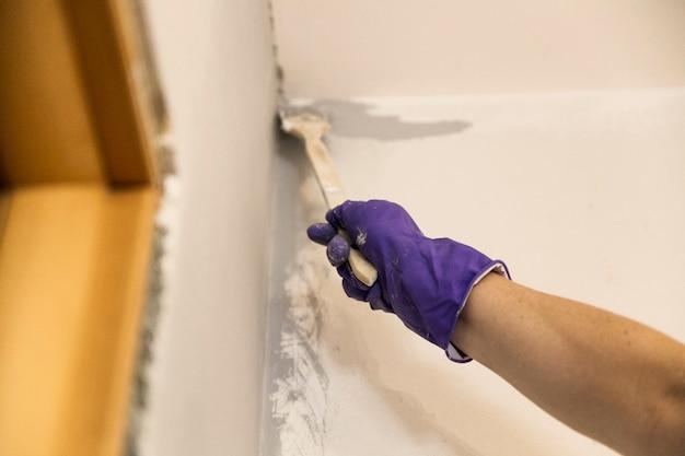 Muurschildering appartement renovatie