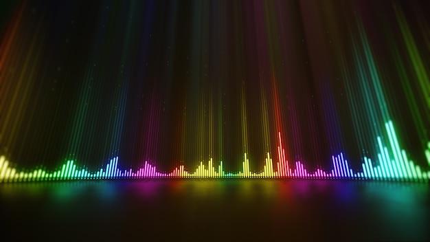 Muziek digitale equalizer golf abstracte achtergrond