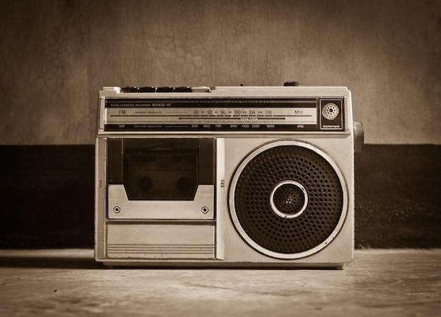 Muziek elektrische antiek retro achtergrond