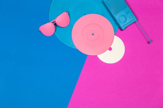 Muziek plat lag objecten