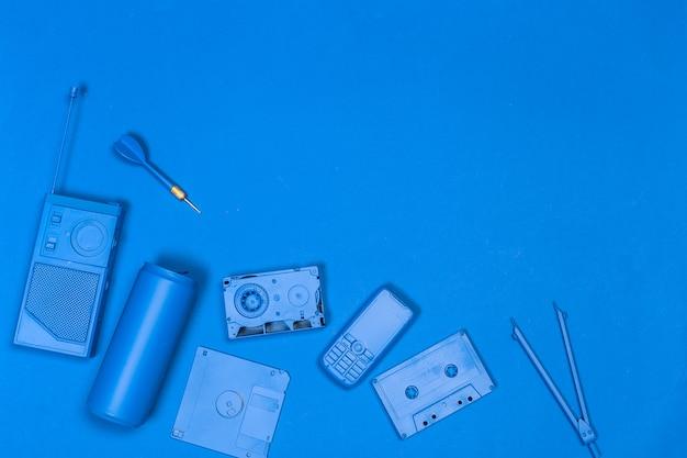 Muziek plat leggen objecten