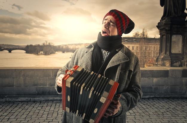 Muziek spelen op straat