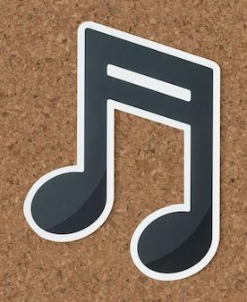 Muzieknoot audio uitgesneden pictogram