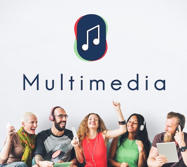 Muzieknoot entertainment audio grafisch concept