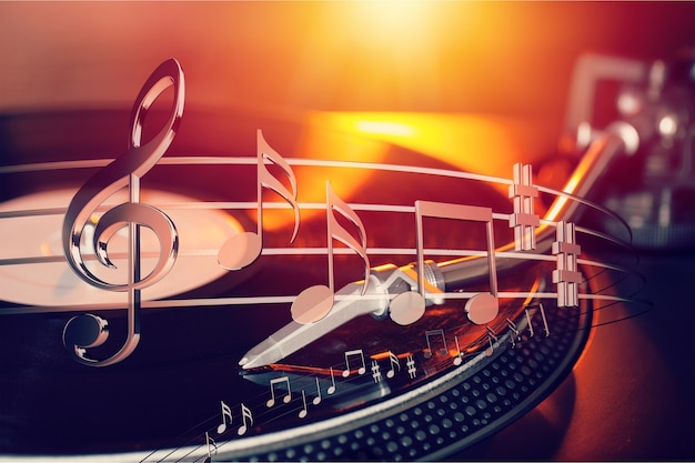 Muzieknoten geïsoleerd op achtergrond