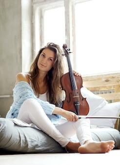 Muzikant in bed