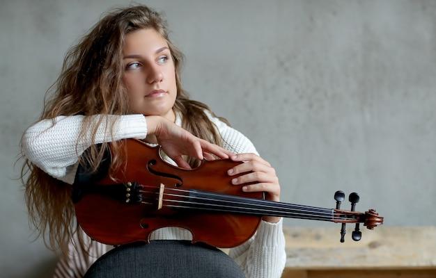 Muzikant met viool
