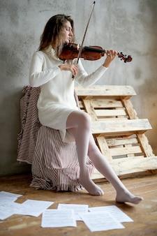 Muzikant viool spelen