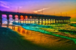Myrtle beach pier zonsopkomst