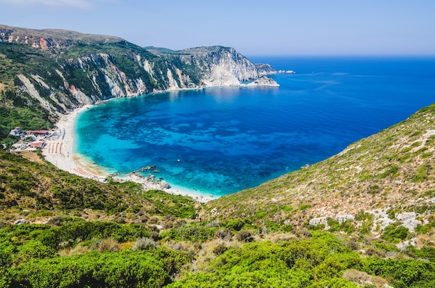 Myrtos bay and beach op kefalonia island, griekenland