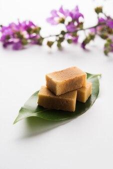 Mysore pak of mysuru paaka is zuid-indiase cake zoals zoet?