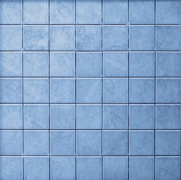 Naadloos mozaïek blauw betegeld patroon