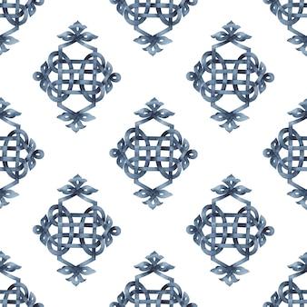 Naadloos patroon keltisch gevlochten