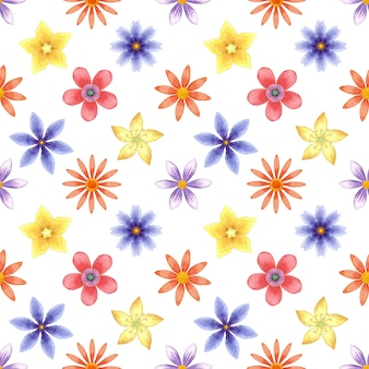 Naadloos patroon met bloeiende bloemen