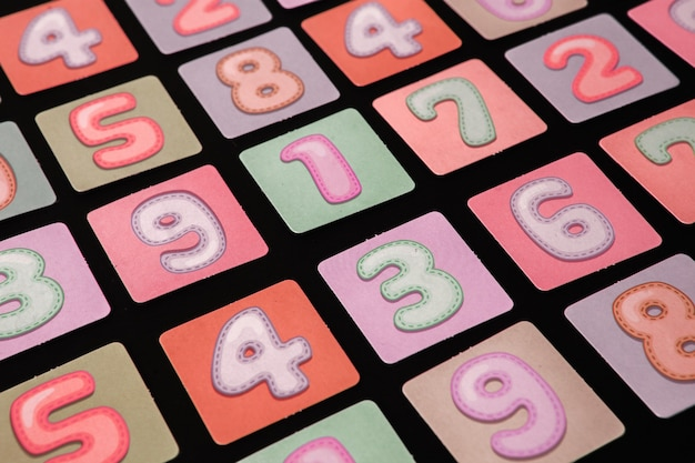 Naadloos patroon met cijfers